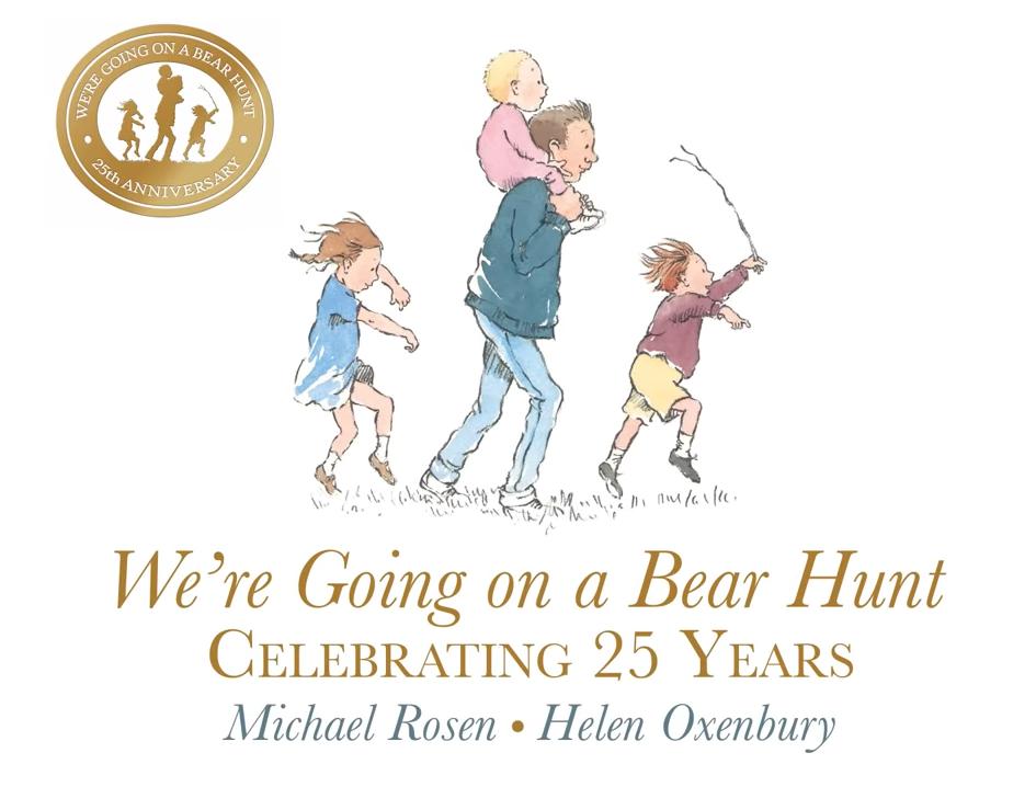 Watch Michael Rosen perform We're Going on a Bear Hunt