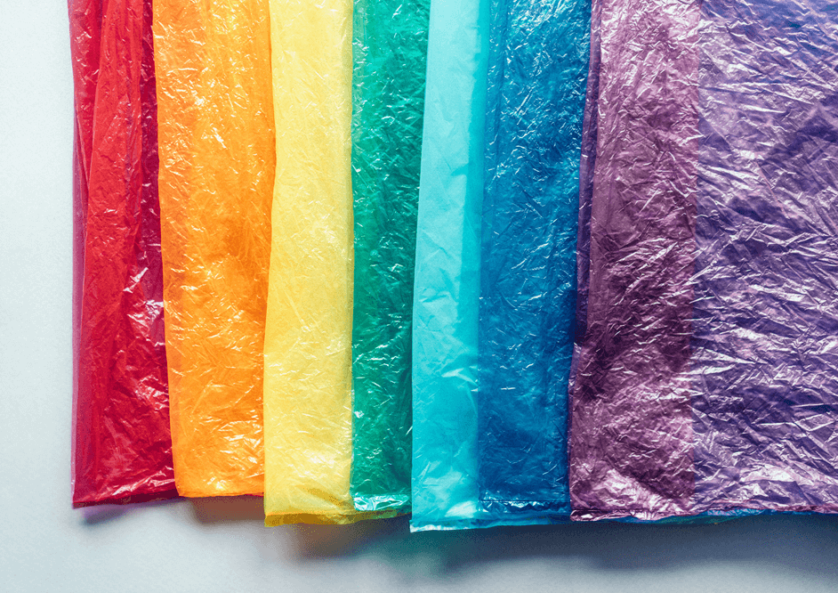 Sustainable rainbow collage